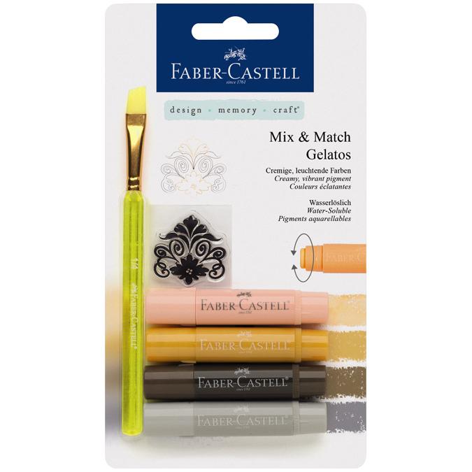 Crayons Gelatos 4 nuances terre