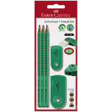 Crayons papier + gomme + taille crayon vert