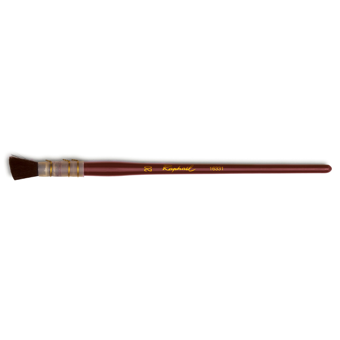 Pinceau biseauté à putoiser en fibre synthétique Valandray série 16331 20