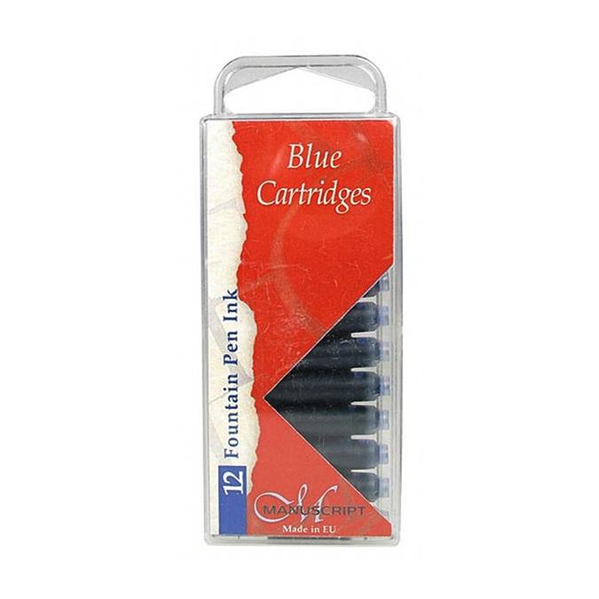 Cartouche d'encre bleue par 12