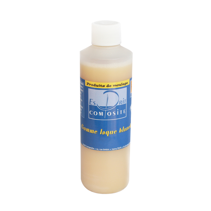 Gomme laque blanche 500 ml