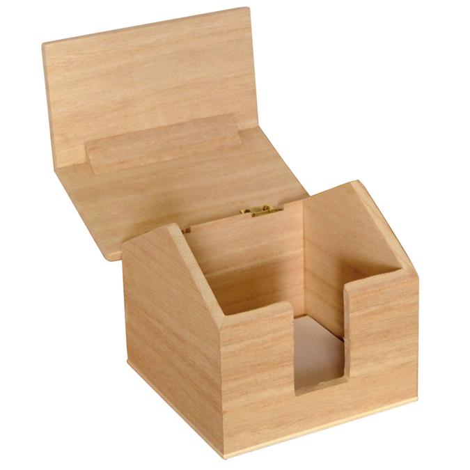 Boite maison porte-papier en bois 13 x 10,5 x 12 cm