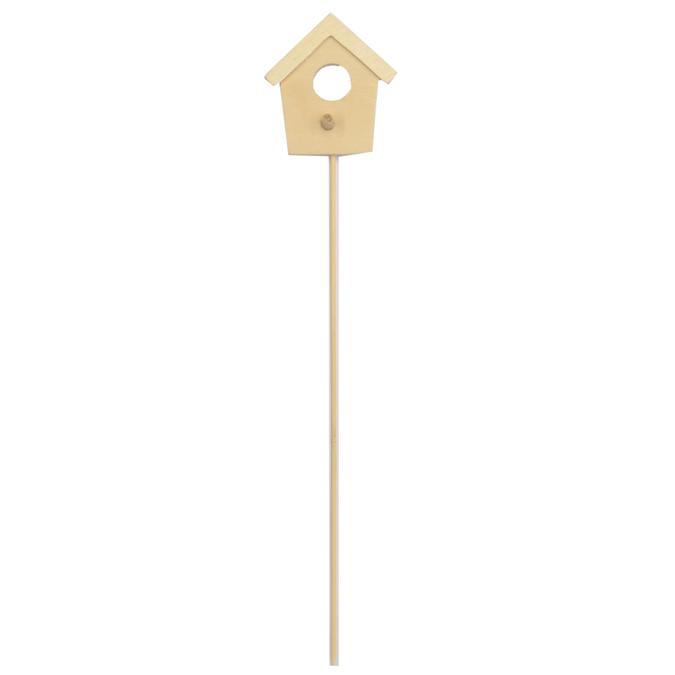 Nichoir en bois sur tige à planter 31,5 x 8 cm