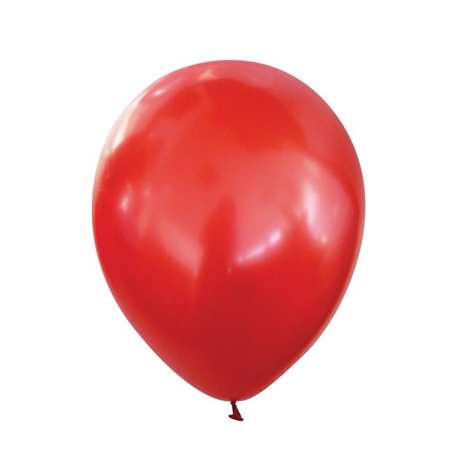 Ballons rouge cerise métal par 25