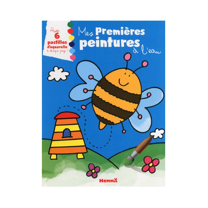 Livre Mes premières peintures à l'eau (abeille)