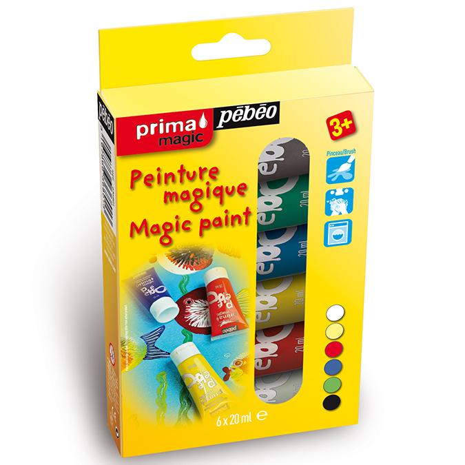 Kit découverte Prima Magic 6 tubes 20 ml couleurs assorties