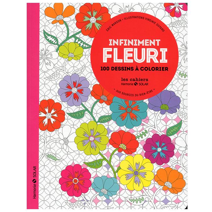 Livre Infiniment fleuri - 100 dessins à colorier