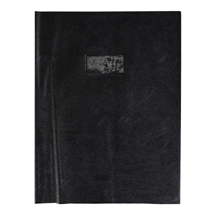 Protège-cahier grain cuir 24 x 32 cm + porte-étiquette