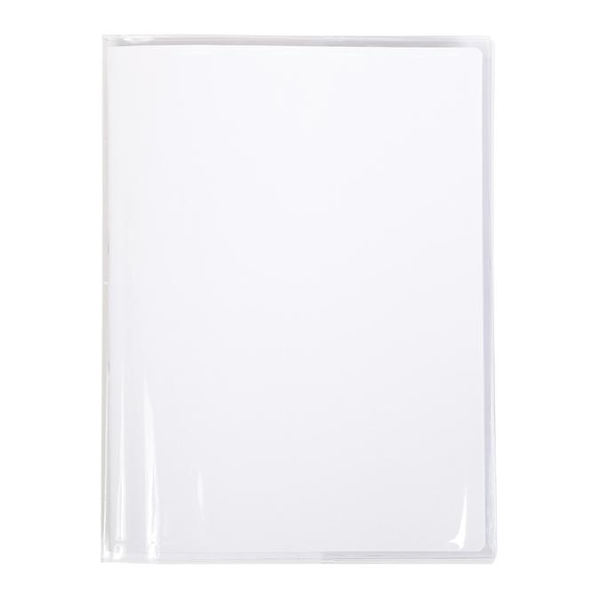 Protège-cahier transparent avec marque-page + porte-étiquette 17 x 22 cm