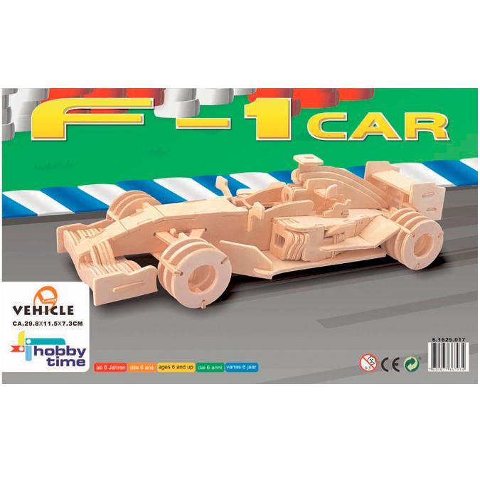 Maquette 3D en bois voiture F1