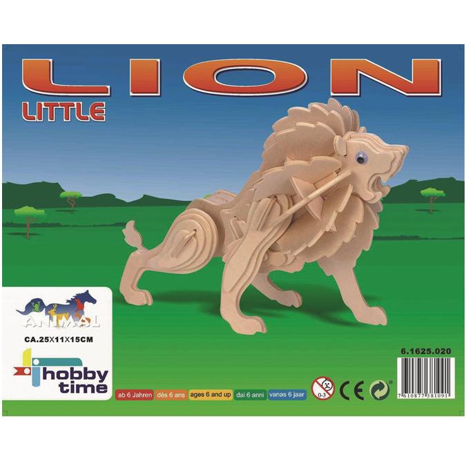 Maquette 3D en bois lion