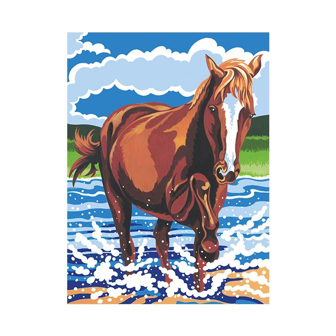 Peinture au numéro poney 24 x 34 cm