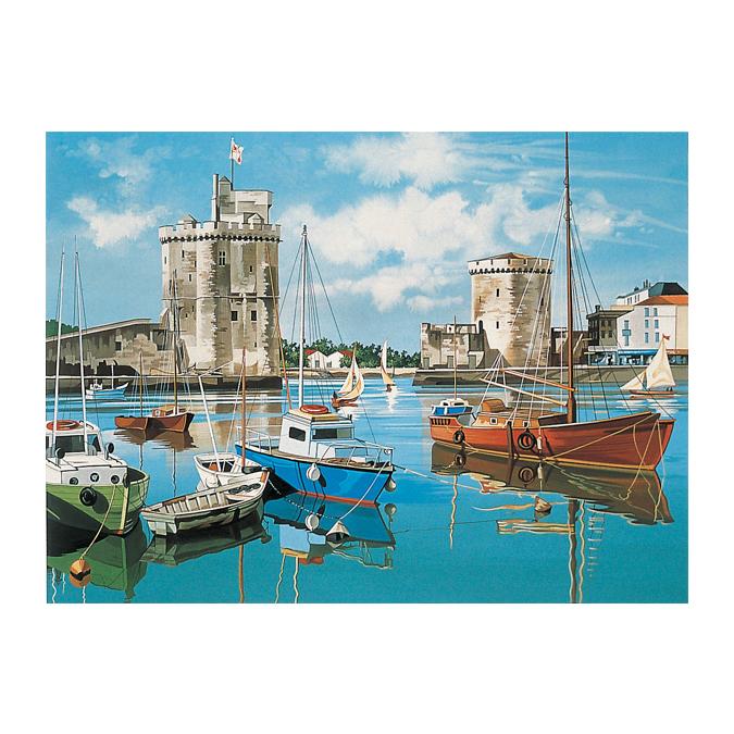 Peinture au numéro port de la Rochelle 30 x 40 cm