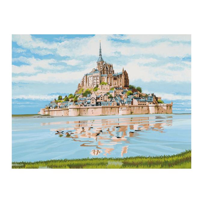 Peinture au numéro mont St-Michel 30 x 40 cm