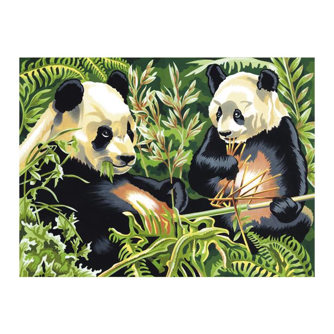 Peinture au numéro panda 30 x 40 cm