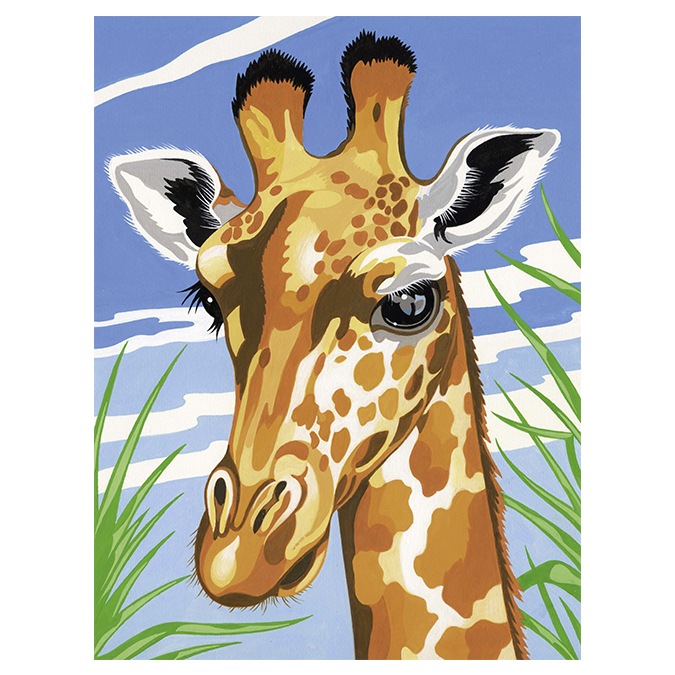 Peinture au numéro girafe 24 x 34 cm