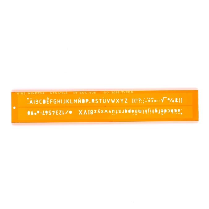 Normographe iso alphabet hauteur de lettre 5 mm
