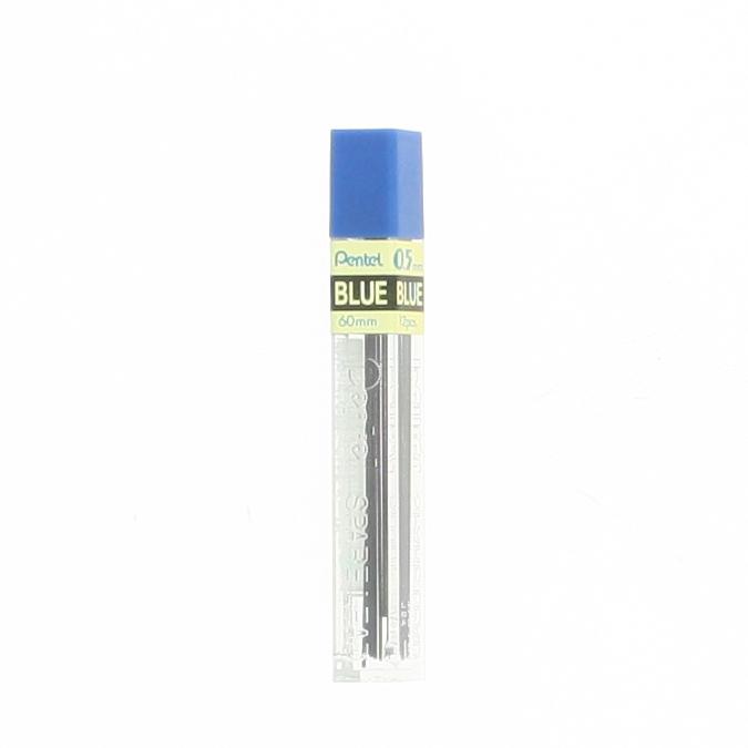 Mines bleues 0,5 mm pour porte-mine par 12