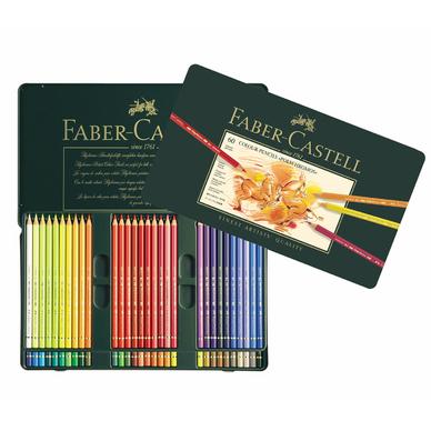 bo te m tal de 60 crayons de couleurs polychromos faber. Black Bedroom Furniture Sets. Home Design Ideas