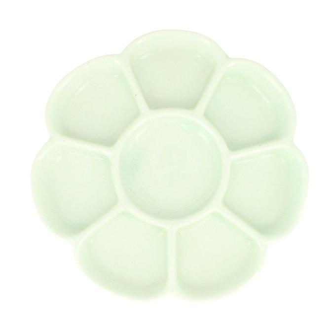 Palette en porcelaine 17 cm 8 alvéoles