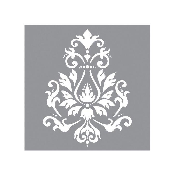 Pochoir motif brocard 30 x 30 cm