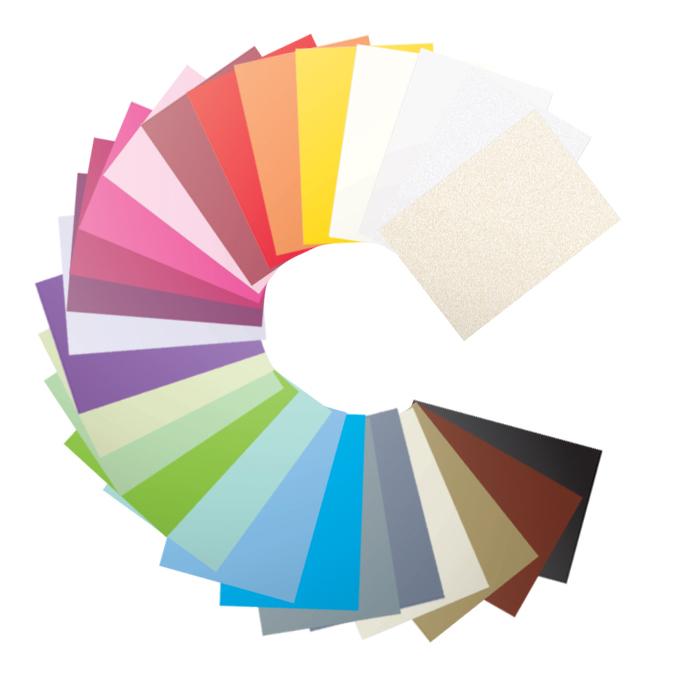 Papier faire part Pollen A4 210g par 25 couleurs variées Vert Bourgeon