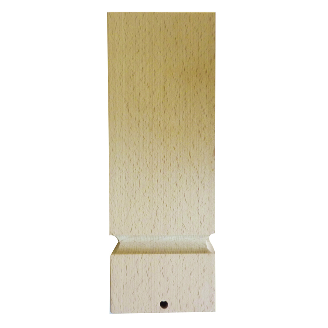 Pied de lampe base carré 9 x 9 x 25 cm