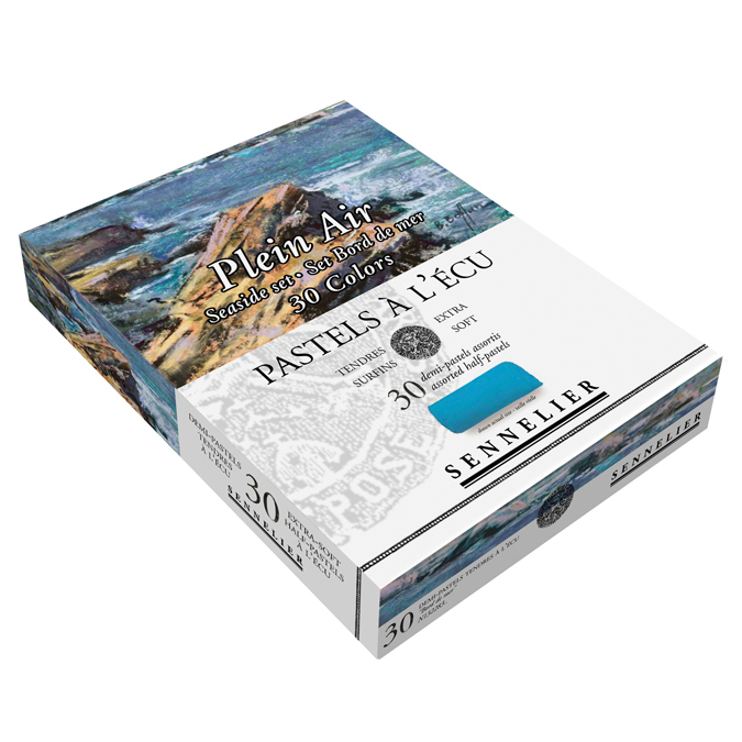 Boîte de 30 pastels Plein air palette bord de mer