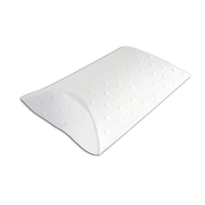 Boîtes Pillow Boxes en papier blanc embossé à pois 6 pièces