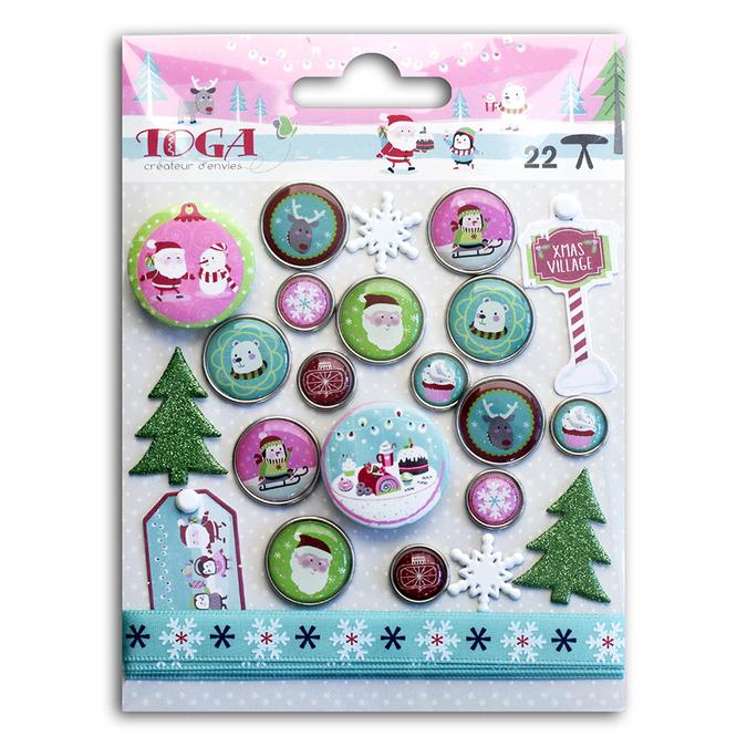 Assortiment d'embellissements Noël au Pôle Nord