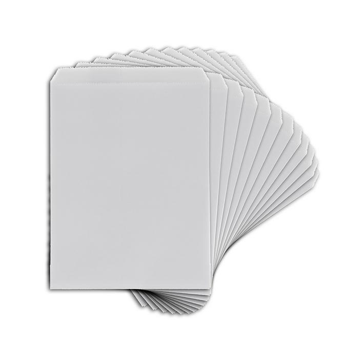 Sachets cadeaux en papier blanc 13 x 18 cm 12 pièces