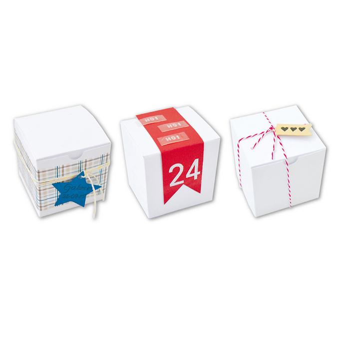 Boîtes cube en papier cartonné blanc 5,5 x 5,5 cm 6 pièces
