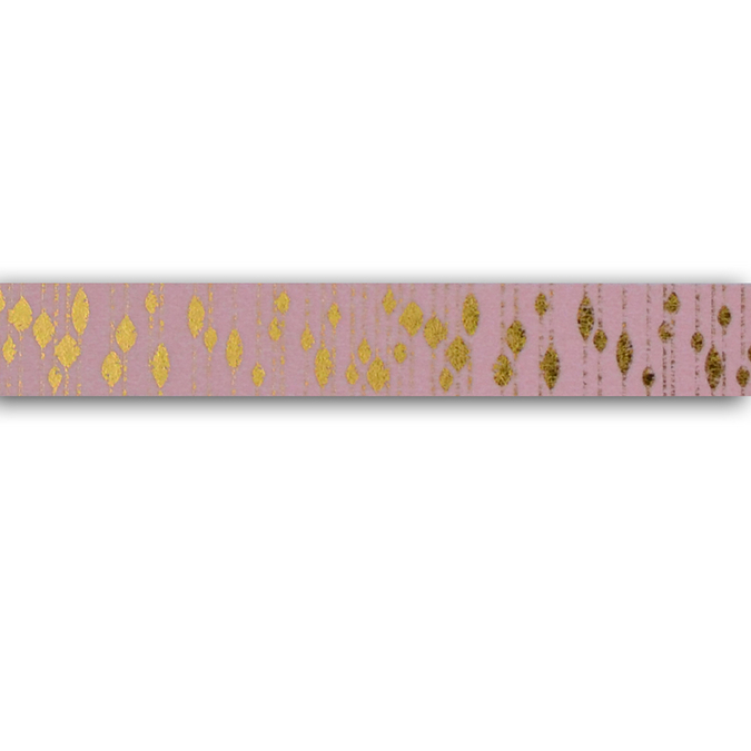 Masking tape rose & pampilles or 1,5 cm x 10 m