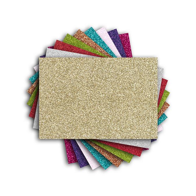 Bloc de papiers pailletés Oh Glitter ! 9 couleurs 18 feuilles 16 x 11 cm
