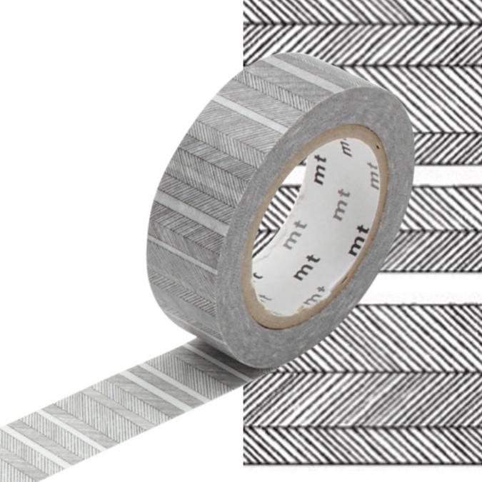 Masking Tape lignes obliques noirs