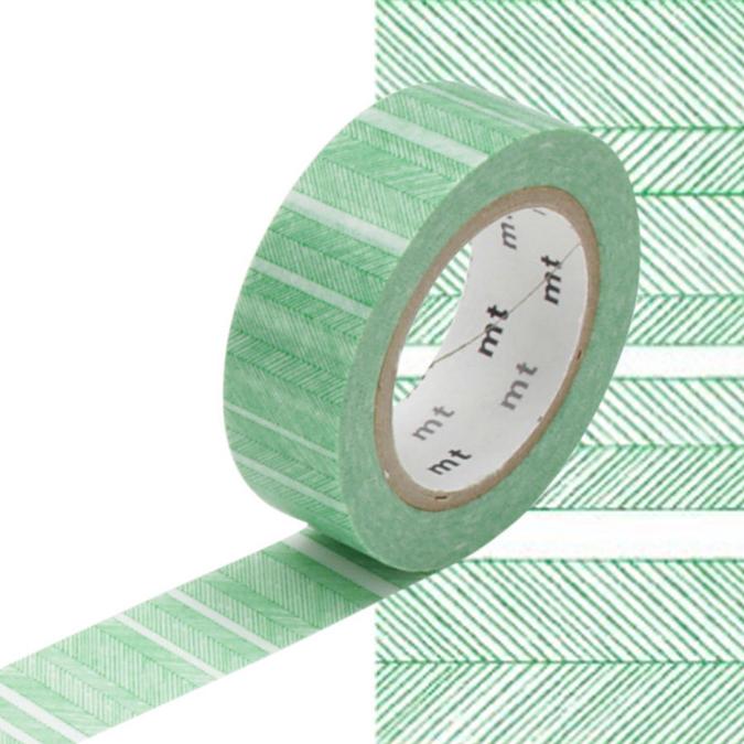 Masking Tape lignes obliques vertes