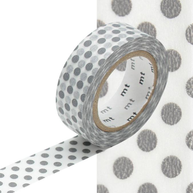 Masking Tape pois gris