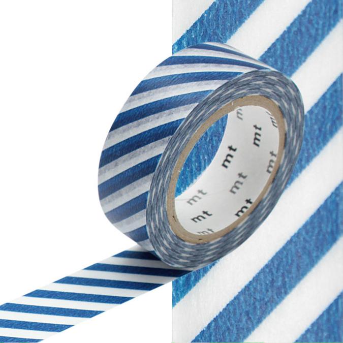 Masking Tape rayures bleu marine