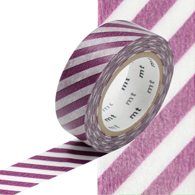 Masking Tape rayures violettes