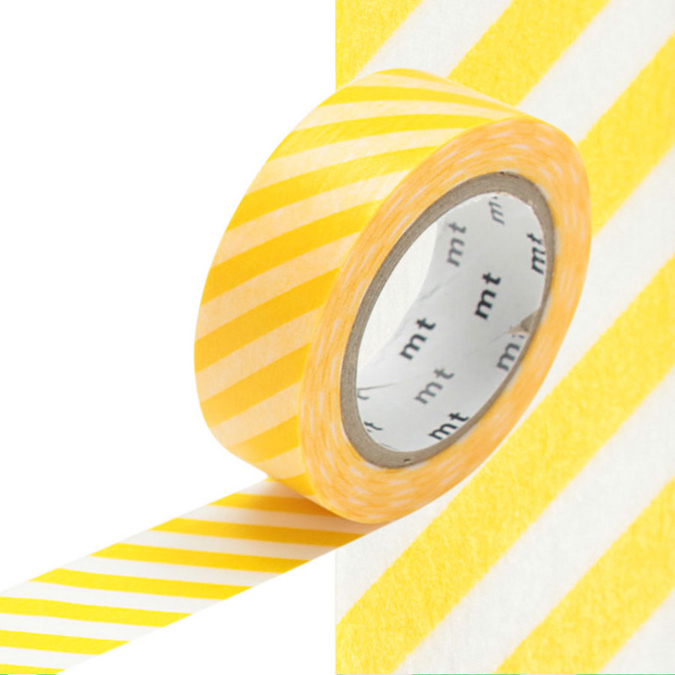 Masking Tape rayures jaunes
