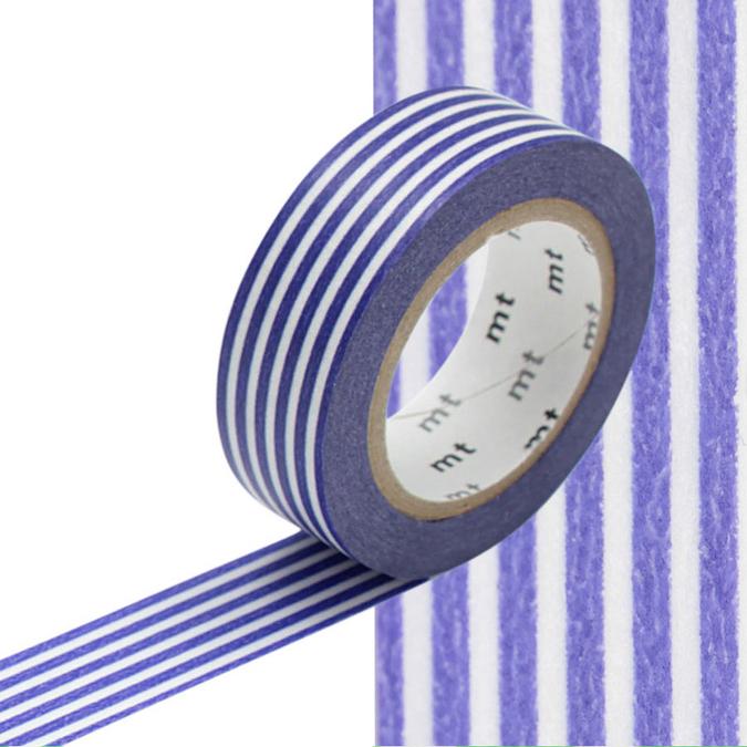 Masking Tape lignes bleus outremer