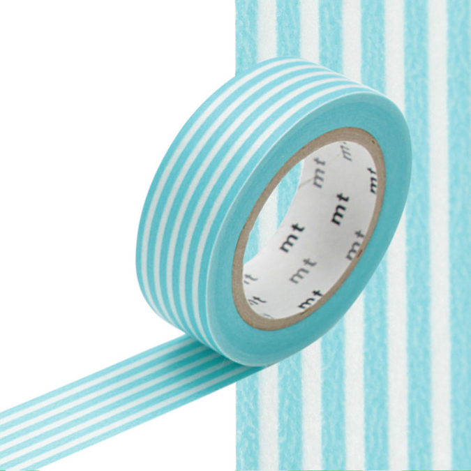 Masking Tape lignes bleu pastel