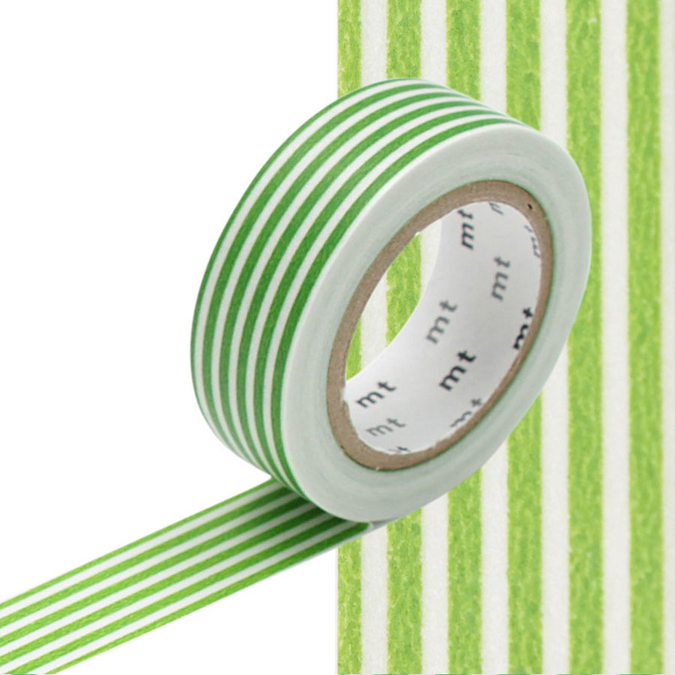 Masking Tape lignes vert clair