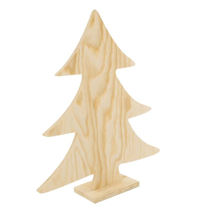 Sapin bois à décorer sur socle 26 cm
