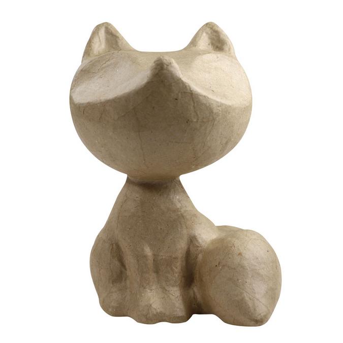 Renard Foxy en papier mâché 8,5 x 6,5 x 10 cm