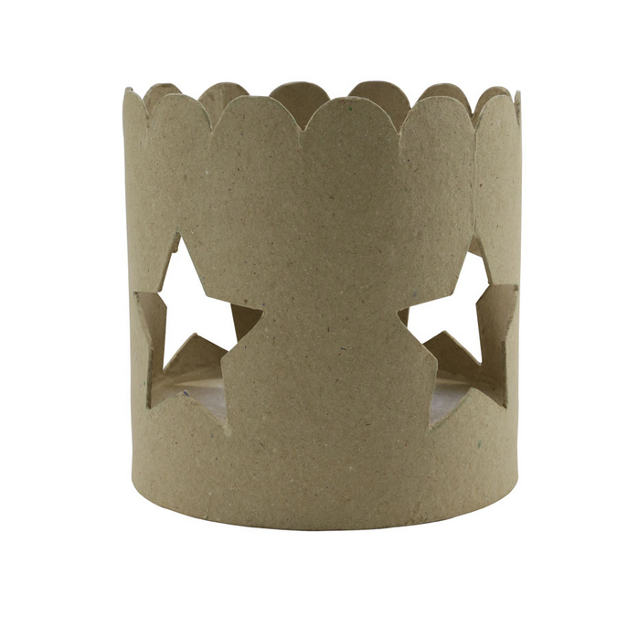 Bougeoir étoile en papier mâché 12 x 12 x 12 cm