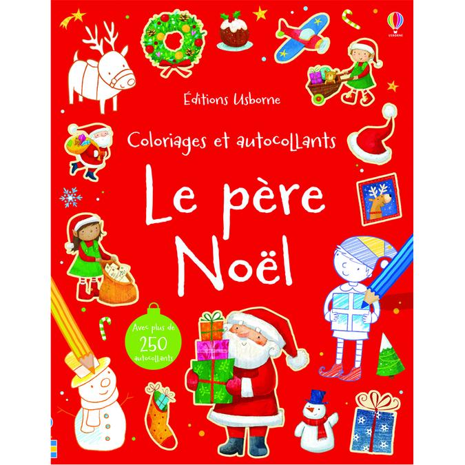 Livre Le père Noël - Coloriages et autocollants