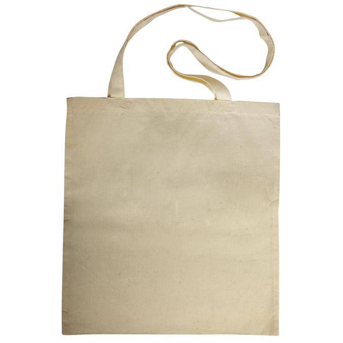 Tote bag - Sac en coton écru avec anses longues