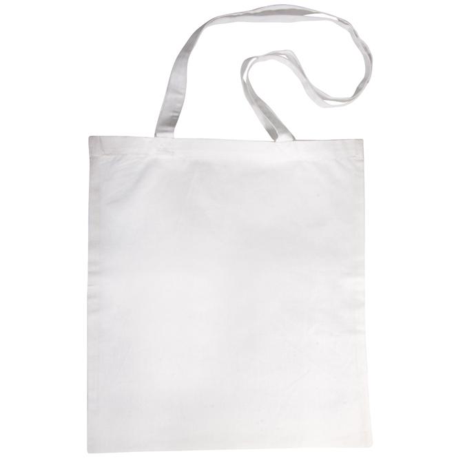 Tote bag - Sac en coton blanc avec anses longues