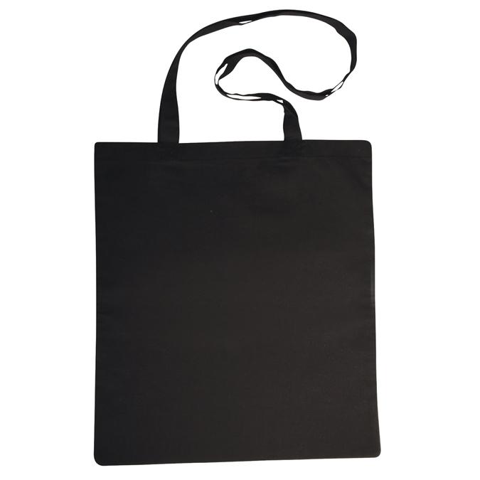 Tote bag - Sac en coton noir avec anses longues